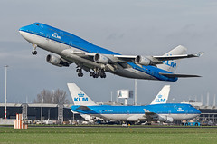 Boeing 747-406M PH-BFE & PH-BFA KLM - Royal Dutch Airlines (WvB Photography - The Sky Is The Limit) Tags: dutch amsterdam airplane airport pentax aviation royal airline boeing klm airlines schiphol airliner airliners k5 eham phbfa phbfe 747406m sigma150500oshsm pentaxk5 weslyvb weslyvanbatenburg