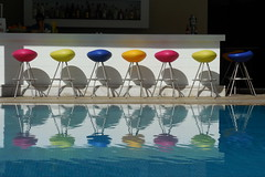 Colorful lineup (Steenjep) Tags: holiday color pool hotel chair kos greece ferie grækenland hotelphilippion philippion