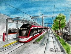 Line 5 Eglinton Crosstown LRT concept (Zirocket) Tags: light toronto ttc rail eglinton lrt bombardier stadtbahn crosstown flexity