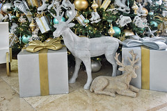 Marina Bay Sands (chooyutshing) Tags: decorations singapore display hotellobby reindeers marinabay marinabaysands christmasfestival2014