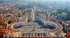 dizzying (1crzqbn) Tags: panorama rome color cityscape shadows tevere stpetersbasilica vaticancity hss piazzapioxii