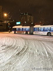 December 26, 2014 - Snow covers downtown Denver streets early in the morning. (Russell Whipple)