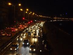 Mumbai City traffic (Tanishk Vijay Photography) Tags: light red cars yellow mumbai nighttraffic traffia