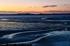 Afterglow of the tideland (kurumaebi) Tags: sunset sea nature landscape nikon yamaguchi mysky   d7000