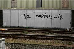 T32 / Nekah (Alex Ellison) Tags: urban graffiti boobs tag railway line graff 32 trackside neka northwestlondon opd t32 1t nekah temp32