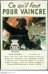 Ce quil faut pour vaincre  Affiche de propagande de guerre / Men of Valor: They Fight for You  war propaganda campaign (BiblioArchives / LibraryArchives) Tags: canada poster marine war wwii navy lac worldwarii supplies campaign sovietunion 1943 affiche ussr bac secondworldwar urss prop