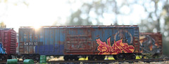 Trains (DreadnokDread) Tags: cars scale model trains wells ho containers csx modeltrains hoscale reefers armns intermodals diostructure warehouseho