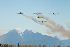 Remembrance Flyover (azcangal) Tags: sky canada museum plane airplane flying bc respect britishcolumbia salute flight honor remembrance langley vetran canoneost5i