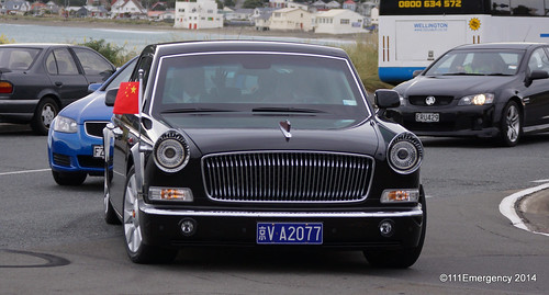 President of China motorcade & aircraft