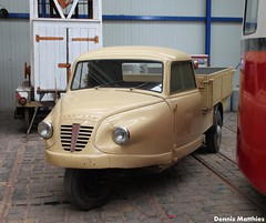 Goli (Schwanzus_Longus) Tags: old classic museum truck vintage germany three weird beige cream tram hannover odd german delivery vehicle wheeler trike goliath oddball flatbed goli
