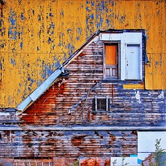 facade (freakingrabbit) Tags: old city canada history colors facade town pattern ghost yukon faded dawson derelict