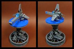 Viper on a Pedestal (Karf Oohlu) Tags: lego viper pedestal moc microscale desktoptoy microspacetopia
