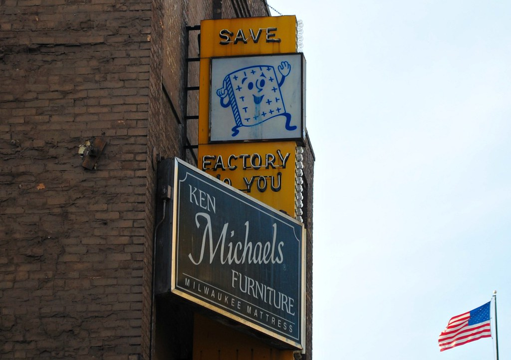 Ken Michaels Furniture Store (Cragin Spring) Tags: City Urban Usa Sign  Wisconsin Vintage