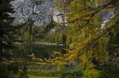 Scorcio lago Federa (alessio mazzocco) Tags: autumn landscape lago nikon italia sigma portfolio autunno 1020 montagna montain paesaggio dolomit veneto escursioni federa d7000