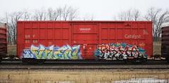 Vilen/Rema (quiet-silence) Tags: railroad art train graffiti db railcar boxcar graff freight sry rema igk fr8 vilen sry9369
