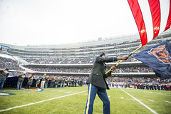 Military service members honored during Chicago bears game (416thTEC) Tags: chicago field minnesota soldier army football uniform unitedstates stadium character bears nfl ceremony reserve americanflag il cointoss fans bronzestar vikings versatility uso engineer anthem chicagobears starspangledbanner americanfootball commitment soldierfield armyreserve reenlistment nationalanthem footballstadium competence combatuniform armycombatuniform usarmyreserve flagunfurling 416th oathofenlistment warriorcitizen 416ththeaterengineercommand 416thtec twicethecitizen