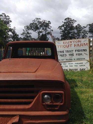 Mitch McRae, owner Buxton Trout & Salmon Farm with Asian Food Network's Sherson Lian #restaurantaustralia