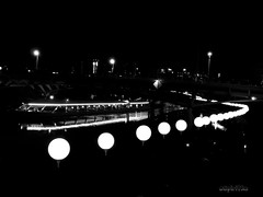 The Border of Lights (SPIRIT RE - GALLERY) Tags: berlin fall wall germany lights border 25 years spree lichterkette the invalidenfriedhof mauerfall spiritre spiritregallery 25jahremauerfall lichtergrenze