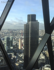 Nat West Tower - London City (jerry_lake) Tags: skyline bttower londoncity thegherkin natwesttower 30stmarysaxe iphone5