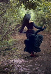 Run away (Medusa.Gorgona.Model) Tags: flowers summer portrait woman flower tree sexy nature girl beautiful beauty face female forest garden hair spring model day branches dream longhair away folklore run attractive bloom blooms runaway gypsy dreamer wavy blackhair pagan blooming