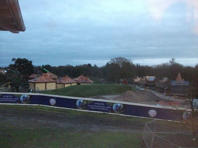 14/12/14 - A view of the construction site.