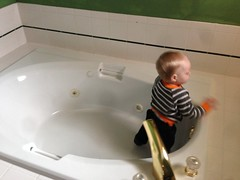 """Exploring the Tub in Grandma and Grandpa Morton's Room • <a style=""""font-size:0.8em;"""" href=""""http://www.flickr.com/photos/109120354@N07/15933771297/"""" target=""""_blank"""">View on Flickr</a>"""