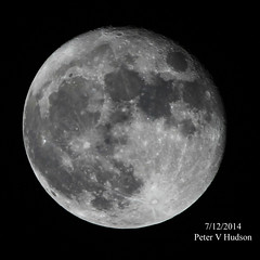 """The Moon on 7/12/2014 by PETER HUDSON • <a style=""""font-size:0.8em;"""" href=""""http://www.flickr.com/photos/74627054@N08/15949340026/"""" target=""""_blank"""">View on Flickr</a>"""