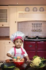 Tiara- The Masterchef 1 (damien_thorne) Tags: baby cute kitchen children child sweet egg daughter adorable chef