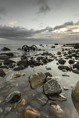 Seaham (Danny Birrell) Tags: light sea sky sun seascape colour water clouds sunrise canon landscape coast rocks wheels clearwater tamron1735 coastallandscape canon5dmkii hitech9ndgrad