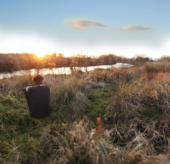 River (R.J Johnson) Tags: light boy sunset orange male field grass composite canon project river natural 365 expansion ryanjohnson brenzier