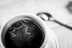 Coffee Swirls (Patrick Chondon) Tags: bw coffee table cream spoon hoito