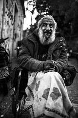 The sage (Vagelis Poulis) Tags: street portrait blackandwhite man roma streetphotography athens greece human plaka balkans gypsy gypsies agora balkan romani romanipeople