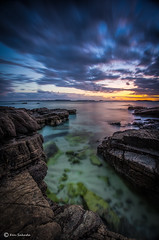 Moment of Dusk (kijimuna.) Tags: longexposure sunset sea seascape japan canon rocks  okinawa     ginoza eos6d