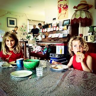The kid-table. Christmas Day.