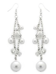5th Avenue White Earrings P5610-5