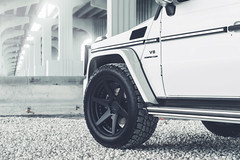 ADV.1 Storm Trooper Mercedes G55 (GREATONE!) Tags: bridge white black mercedes florida miami sony wheels overpass rims g55 highly 2470mm a7r