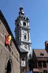 Mons, beffroi (Ytierny) Tags: vertical architecture lanterne construction belgique pierre style bergen baroque mons carillon edifice hainaut beffroi bulbe ajoure ytierny