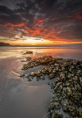 Sunset at Carmel Beach - Carmel, CA (Axe.Man) Tags: sunset beach rock clouds dramatic carmel carmelbeach