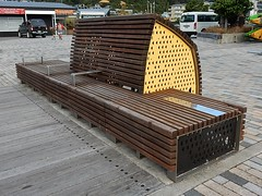 Bench with High Visual Impact (mikecogh) Tags: bench design big large picton imposing solid substantial