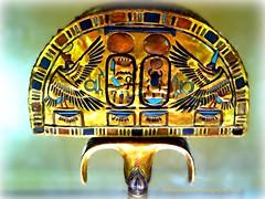 Tutankhamun's Gilded Ebony Fan (Amberinsea Photography) Tags: egypt cairo tutankhamen tutankhamun cairomuseum tomboftutankhamun nebkheperure amberinseaphotography gildedebonyfan