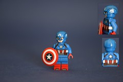 Captain America. (TheLegoZealot) Tags: america lego captain figure custom