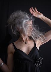 F9454 ~ Portrait of a woman (Teresa Teixeira) Tags: portrait woman silver trendy greyhair teresateixeira cristinavaladas