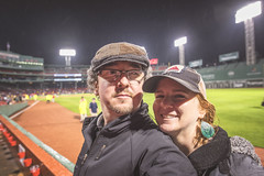 Some Fenway Fun in the Rain (Jonmikel & Kat-YSNP) Tags: rain boston night baseball redsox fenway raining fenwaypark select nightgame