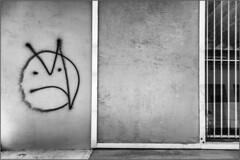 Compartmentalization (Ernie Visk) Tags: blackandwhite texture monochrome wall graffiti graphic minimalism minimalist