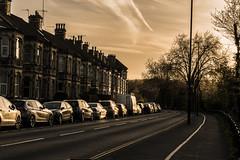 Reflection (Oli Masson) Tags: road street sunset summer sun lines rural bristol leading