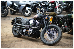 Cool Harley Bobber (The Landscape Motorcyclist) Tags: cool harley davidson bobber nikon df 80200 f28 headcorn merlinsand motorcycles