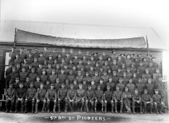 Soldiers of the 5th Pioneers, c1917 (State Library of South Australia) Tags: wwi worldwari worldwarone soldiers 5thpioneerbattalion