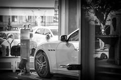 boule player (Alexander.Hls) Tags: city blackandwhite car munich mirror boule