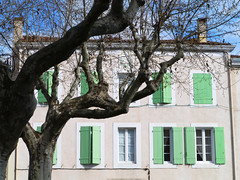Esperaza (Niall Corbet) Tags: france languedoc roussillon aude esperaza window shutter painted wooden green
