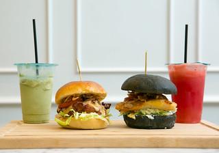 (Left) Chicken Teriyaki Burger & (Right) Yuzu Teriyaki Fish Burger